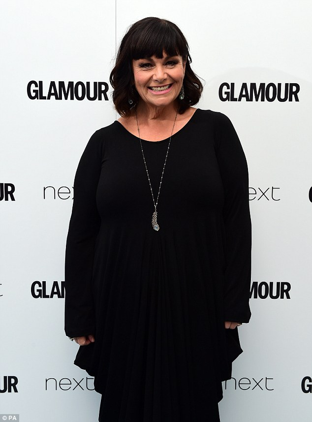 Familiar face: Lenny raised eyebrows when he first revealed his new girlfriend, who bears a striking resemblance to ex-wife Dawn French (pictured)