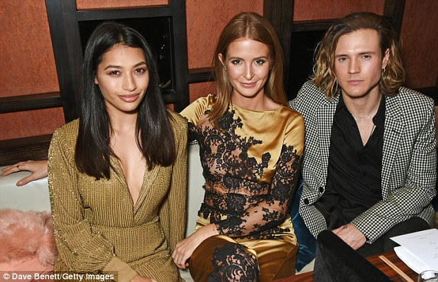 In good company: The former MIC star posed with Vanessa White and Dougie Poynter