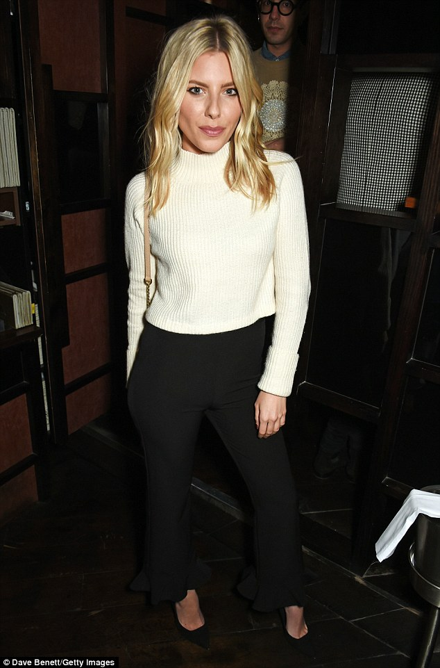 Blonde beauty: The Saturdays singer Molly King kept her look simple for the evening