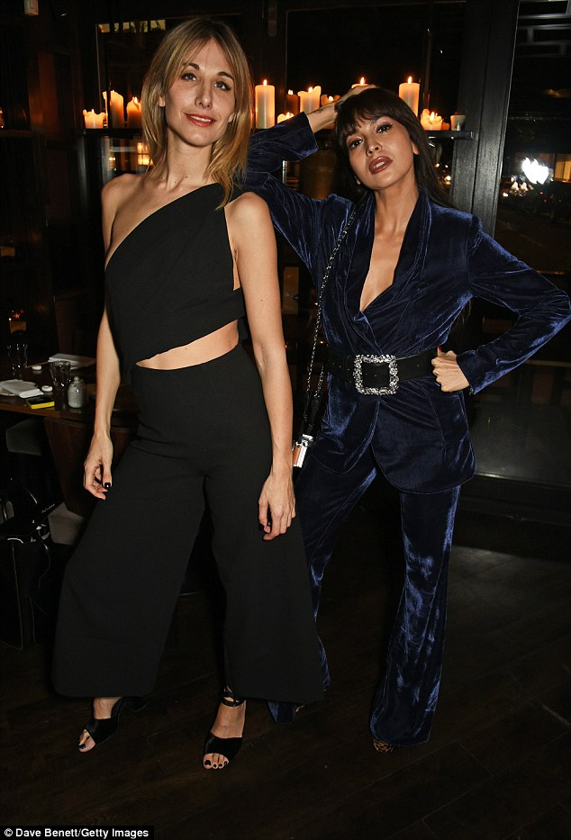 Strike a pose! Sophie Ball and Zara worked their best angles at the event