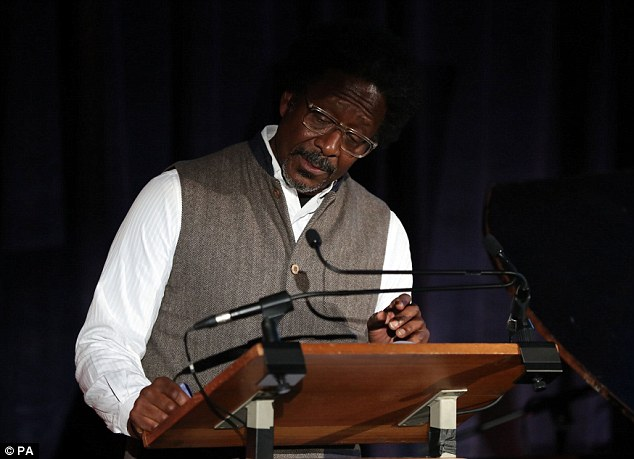 Putting in appearance: The Wire actor Clarke Peters delivered a stellar reading