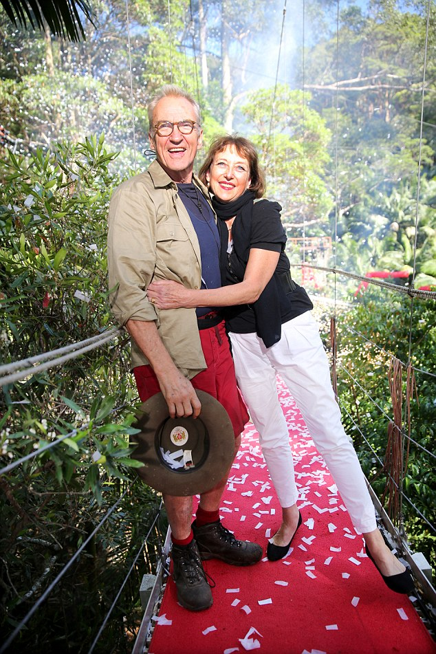 New romance: It was revealed last week that Larry Lamb was dating 'lovely new lady' Marie Victorine, who greeted him from the I'm A Celebrity... Get Me Out Of Here! jungle