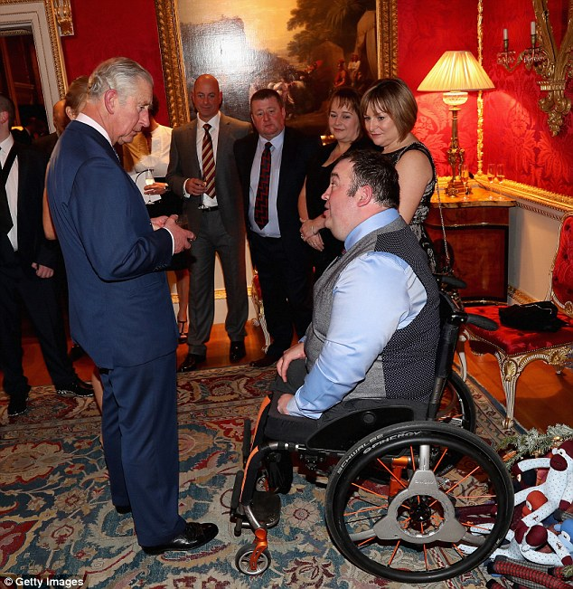 Prince Charles chats with former bomb disposal soldier Ken Bellringer