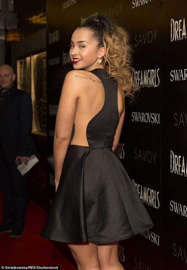 A wElla wElla wElla : Joining her at the bash was a bevy of stunners including Ella Eyre who wowed in a slinky black dress with a bare back which showed off her braless state