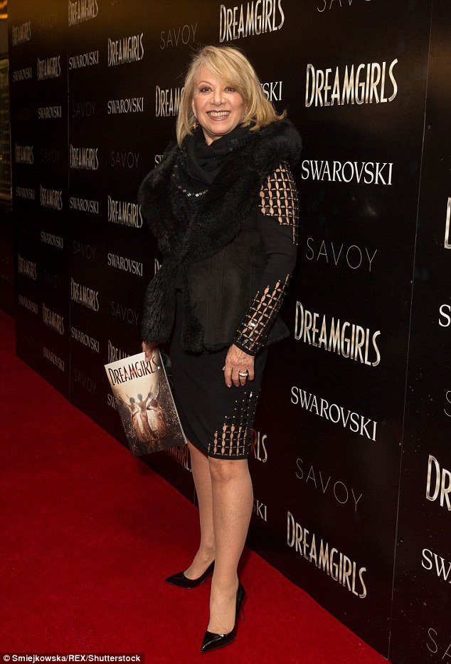 Legend: Theatre icon Elaine Paige looked incredibly glamorous in a fur trimmed coat with a chic black ensemble underneath