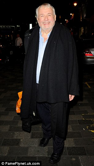 Oh what a night: Christopher Biggins (L) and Sir Cliff Richard looked in good spirits as they headed home