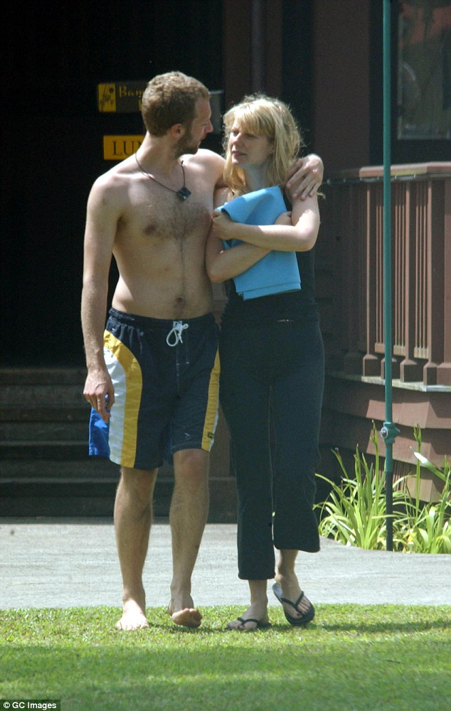 I fooled one person once': Chris was undoubtedly referring to his only former wife Gwyneth, who he married in December 2003 (pictured in May 2003)