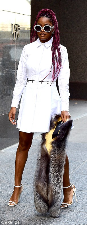 Fantastic four: Keke Palmer more than earned her fashion stripes in FOUR different outfits while out in New York City on Wednesday
