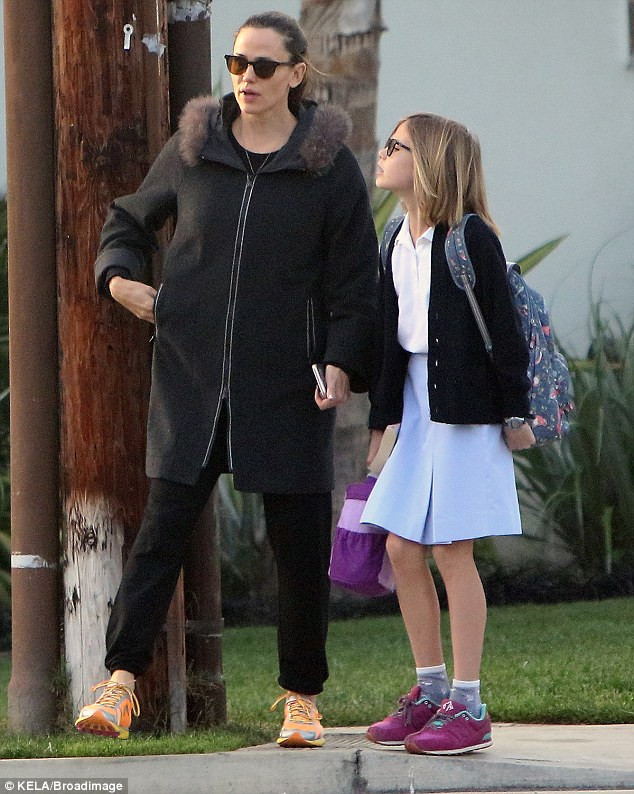 Just the girls! Garner was also spotted with her daughter Violet Affleck, age 11
