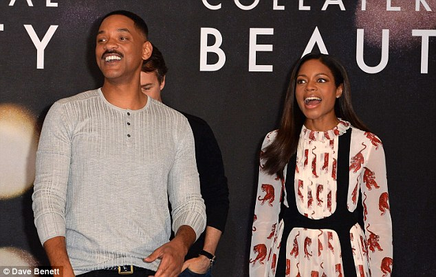 Having a ball:Naomie attended the event alongside her fellow cast-mates, including a casually-clad Will Smith