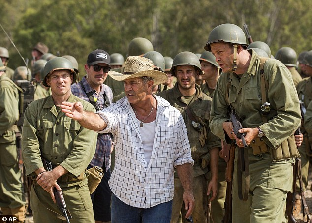 Top of its game: Mel's popular new flick, Hacksaw Ridge has also claimed two nominations, including outstanding performance by a stunt ensemble in a motion picture