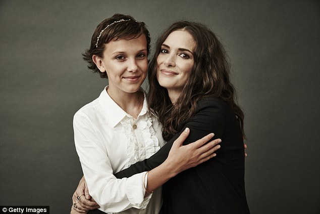 On the list: Not only did it land three nominations, but two of its stars were recognized. Both Millie Bobby Brown, 12, (LEFT) and Winona Ryder,45, (RIGHT) were given best actor nods
