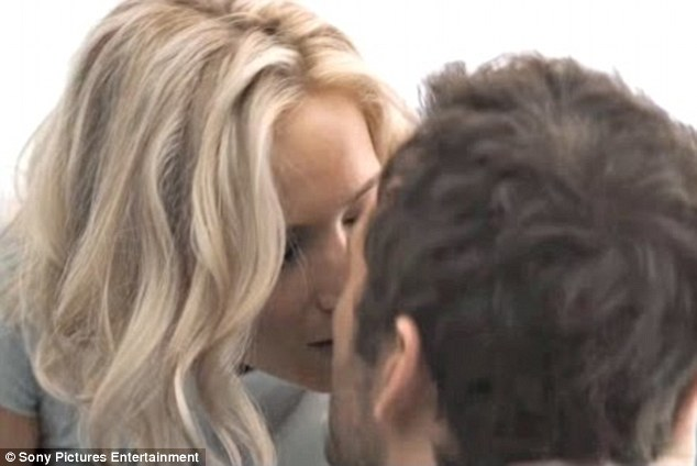 Not steamy: Chris Pratt told People Wednesday that shooting a love scene with Jennifer Lawrence on Passengers was far from sexy