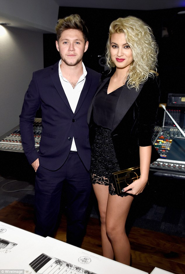 'Label buddies':Tori and Niall were spotted mingling together at the Capitol Records 75th Anniversary Gala last month in LA