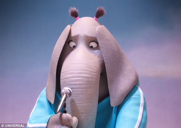 Back at it:Tori plays the part of Meena, a shy elephant with a big voice that appears on the contest