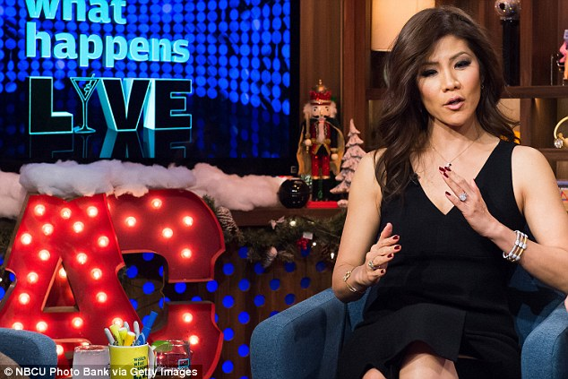 Blunt talk: Julie Chen trashed The View while appearing on Watch What Happens Live on Tuesday night (above)