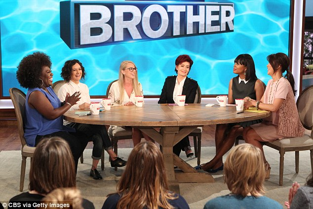 Rival: Chen has appeared on CBS's The Talk since it launched in 2010 ( l to r: Sheryl Underwood, Sara Gilbert, Nicole Franzel, Sharon Osbourne, Aisha Tyler and Chen in September)