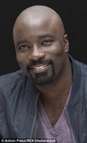 Luke Cage actor Mike Colter, pictured, came seventh, possibly due to his cool goatie