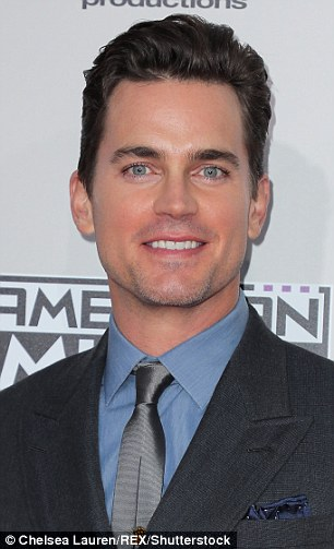 US actor Matt Bomer, of White Collar and American Horror Story fame, was the highest placed clean shaven man at number eight