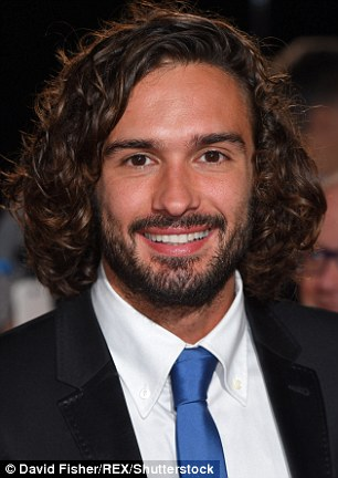 Body coach Joe Wicks, pictured, rounded out the top 10, also sporting a beard
