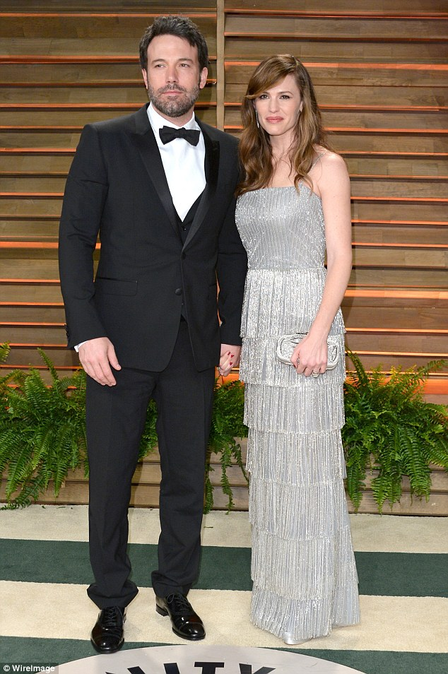 As they were: The couple, pictured in 2014 at the Vanity Fair Party in Los Angeles, were married for ten years before the divorce announcement