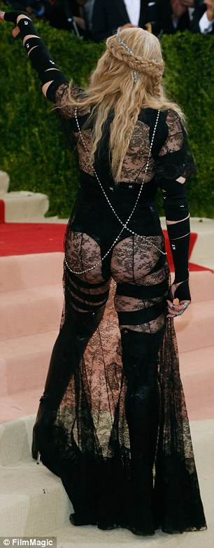 'Struggles to stay relevant': Camille slammed the buttocks-baring ensemble Madonna wore to theMetropolitan Museum of Art Gala last May