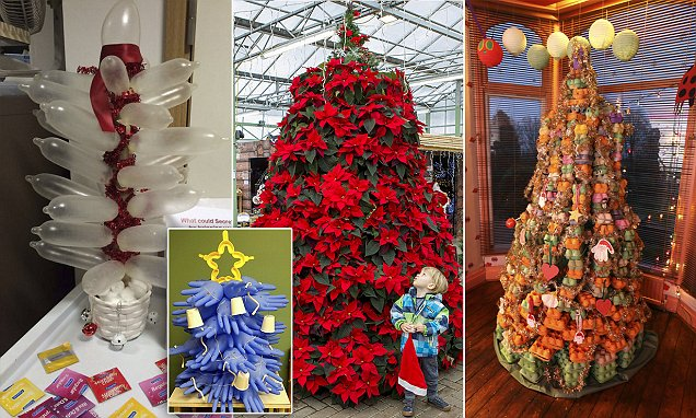 Branching out: The wacky Christmas 'trees' that prove it doesn't have to be fir to be