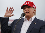 President-elect Donald Trump speaks during a rally at Ladd-Peebles Stadium, Saturday, Dec. 17, 2016, in Mobile, Ala. (AP Photo/Evan Vucci)