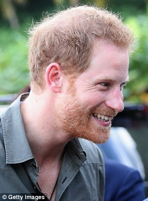 Prince Harry in Colonarie, Saint Vincent and the Grenadines