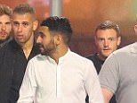 Riyad Mahrez braved a cold night by not wearing a coat, perhaps fazed by the cloakroom costs
