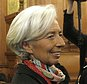 FILE - In this Monday, Dec. 12, 2016 file picture, International Monetary Fund chief Christine Lagarde, right, arrives at the special Paris court, France. French court finds IMF chief Christine Lagarde guilty in arbitration case, but she escapes punishment. (AP Photo/Thibault Camus, File)