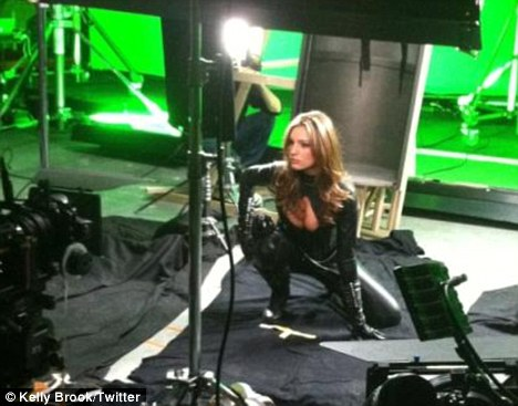 Green screen: Kelly is in Belgium shooting the movie, an adaptation of the popular comic books