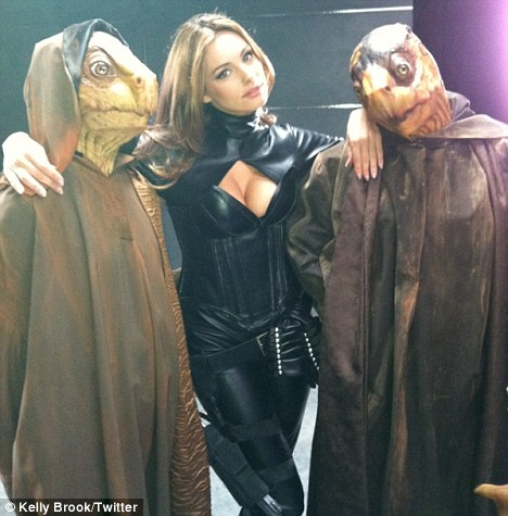 A geek's dream woman: Last year, Kelly shared a picture of herself on the set of the movie
