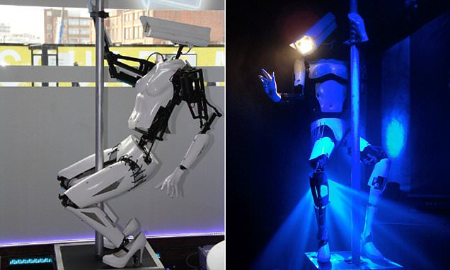Tech firm uses pole dancing ROBOTS to attract people in Shoreditch