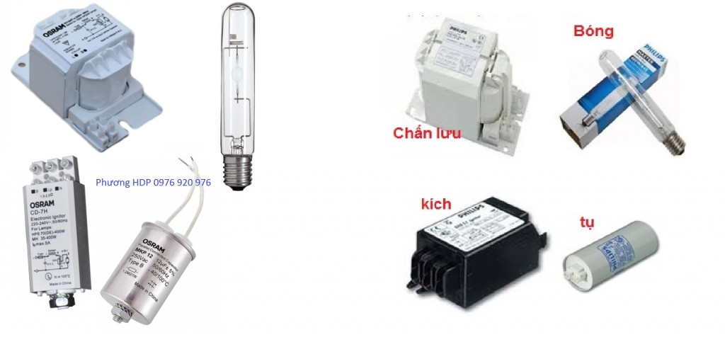 bộ đèn cao áp 150w-70w-250w-400w