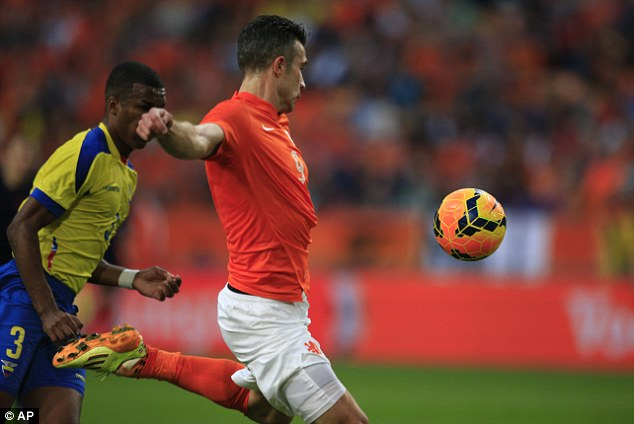 Class: Holland captain van Persie scored a fantastic volley in their 1-1 draw with Ecuador on Saturday