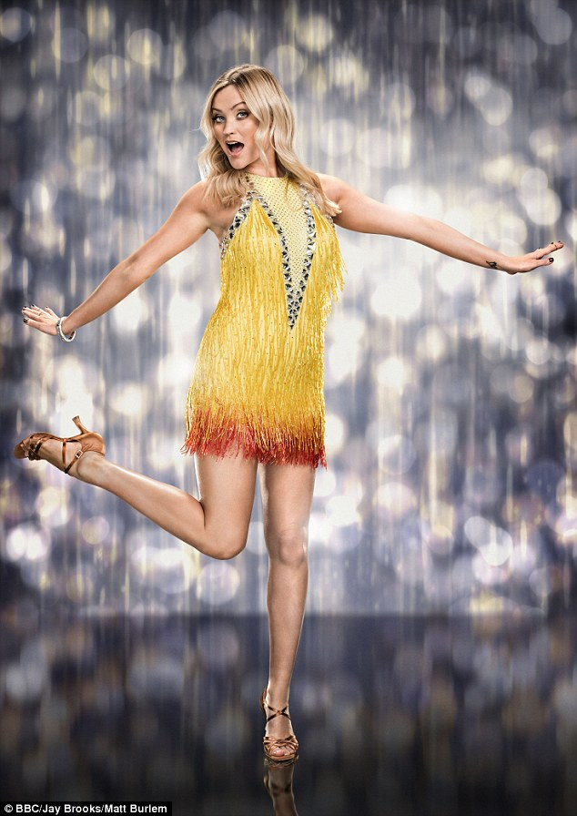 What a trooper! Laura Whitmore, 31, has returned to Strictly Come Dancing rehearsals after she was reportedly unable to stand due to intense pain from an ankle injury