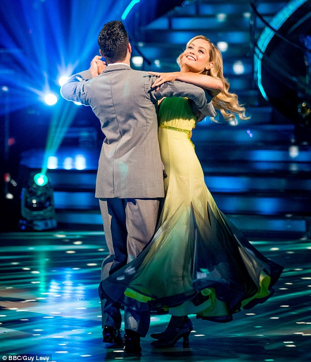 Happier times: Laura will have to rest instead of performing on tonight's Strictly
