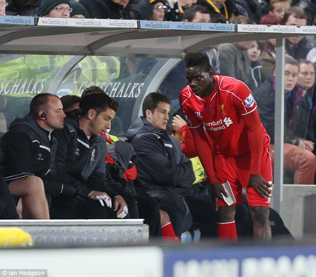 Balotelli was substituted after 65 minutes, having touched the ball just once after half-time