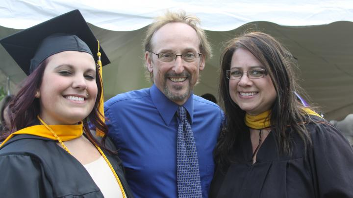 Professor Fred and Sally Berger at Graduation