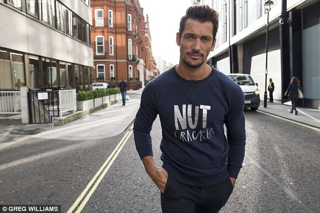 David Gandy said: 'I feel honoured that Save the Children has asked me to join this fantastic line up to create my very own Christmas jumper with Molly Gunn'