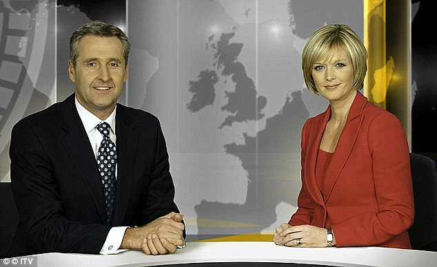 Austin, left, hosted ITV News at Ten with Julie Etchingham, right, for eight years, winning two Royal Television Society Programme of the Year Awards