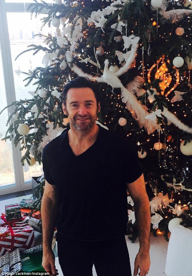 White Christmas:Hugh was recently in Australia for some rest and relaxation before he returned to the United States to spend Christmas with his wife and family in New York City