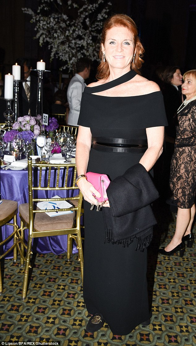 The flame-haired royal was speaking at the Alzheimer's Association Rita Hayworth Gala on Tuesday night