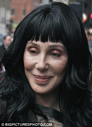 Are you ready for your close-up? Cher didn't look quite so camera-ready outside Claridge's Hotel on Tuesday afternoon