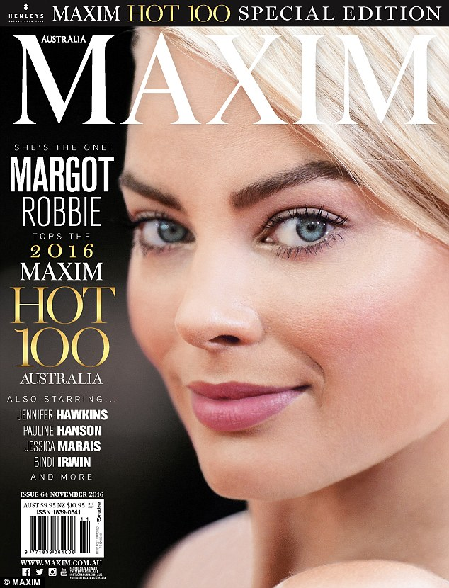 Read all about it! Margot Robbie topped Maxim Australia's Hot 100 list after finishing as runner-up in 2015