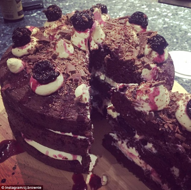 As well as glamorous selfies and pictures of her pug, Candice often posts snaps of her mouthwatering bakes on social media