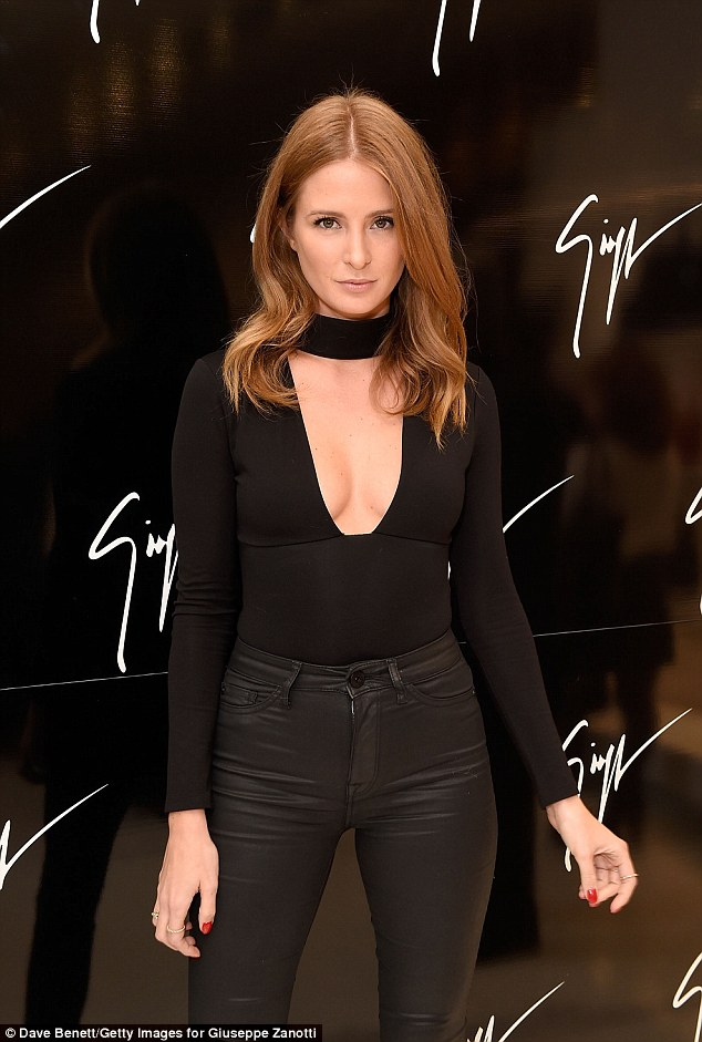 Up front! The stunning reality star, 27, hit the town for the Giuseppe Zanotti London flagship store launch, wowingonlookers once inside as she revealed some extreme cleavage in a barely there top