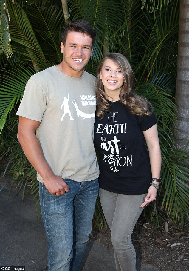 Birthday girl! Bindi celebrated her 18th birthday in July at Australia Zoo with her family and American boyfriend Chandler Powell (L)