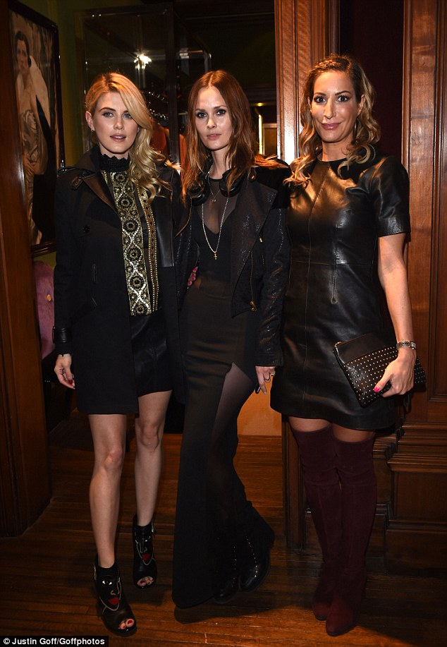 Here come the girls: Ashley James was joined by Charlotte de Carle and Laura Pradelska